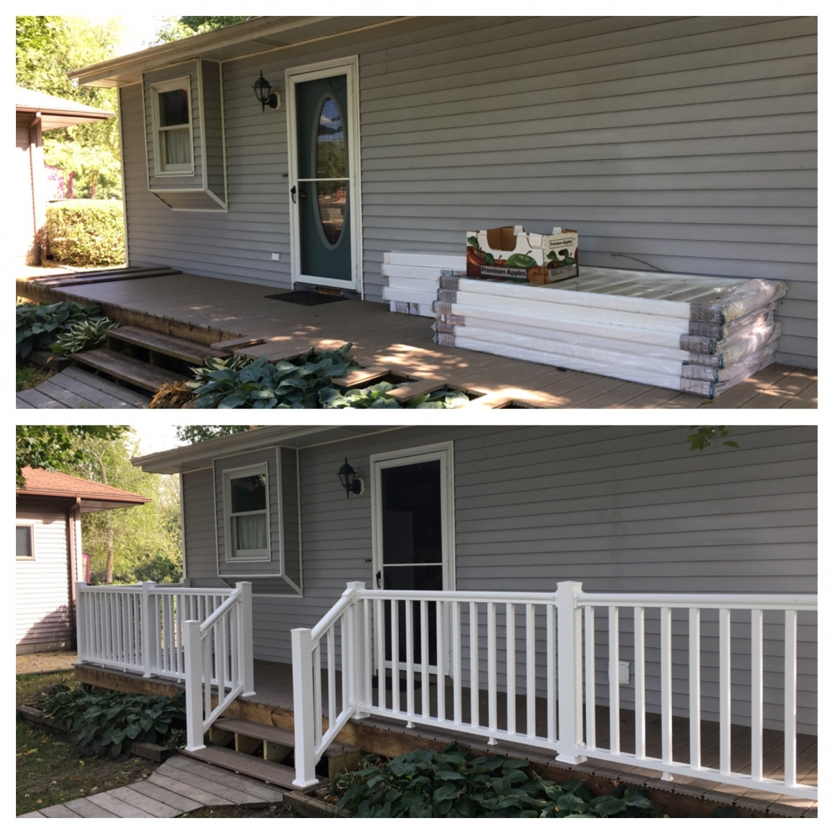 Before and after- new composite material deck